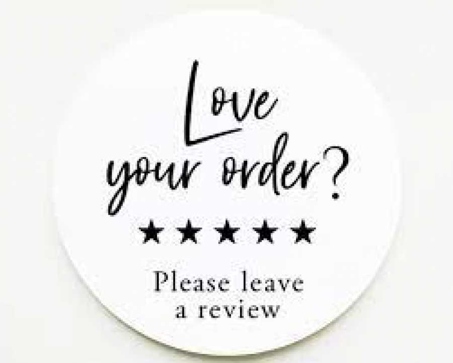 Do you leave feedback after orders online?